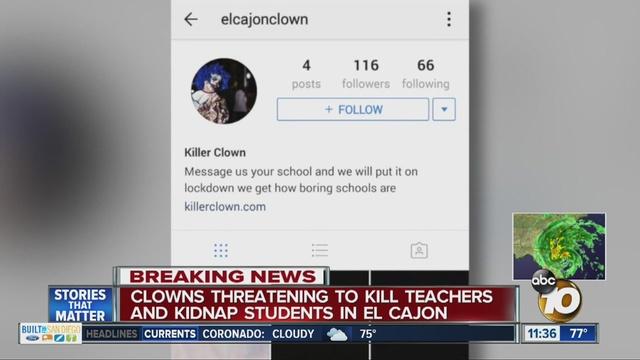 Police Respond To Clown Threat Against El Cajon Area