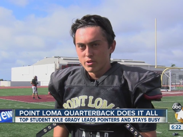 Point Loma HS QB does it all