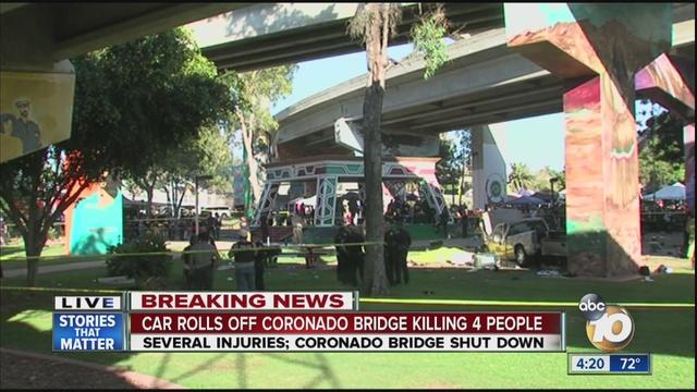 Truck plunges off bridge, killing 4