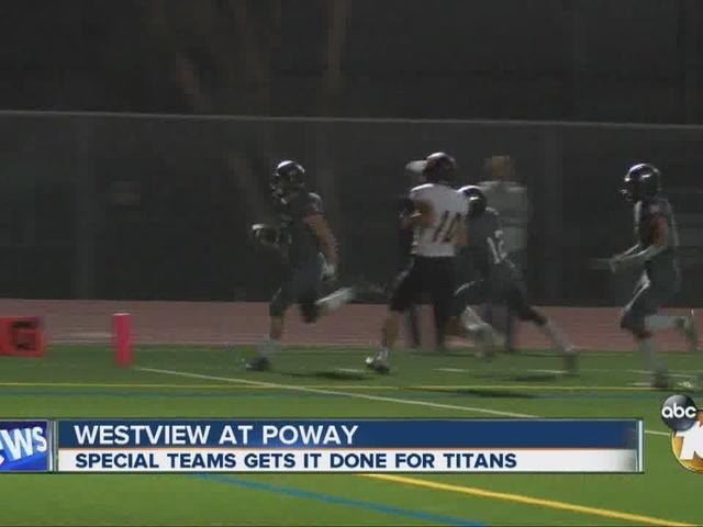 Poway defeats Westview 31-6