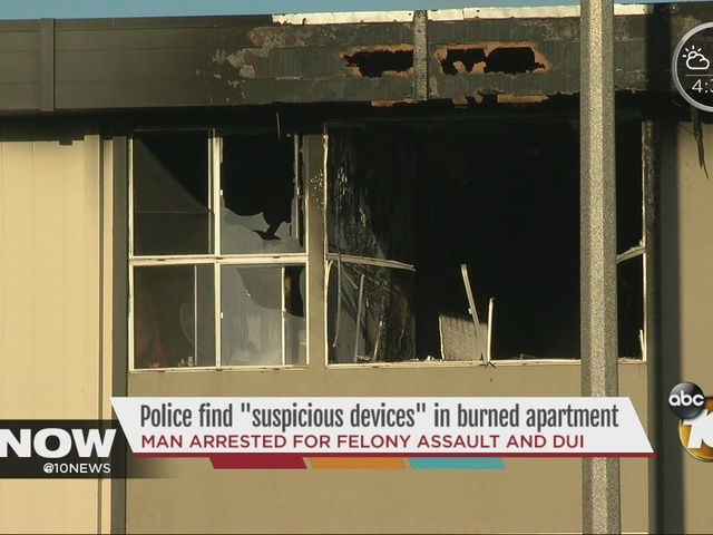 Police find 'suspicious devices' in burned Chula Vista apartment