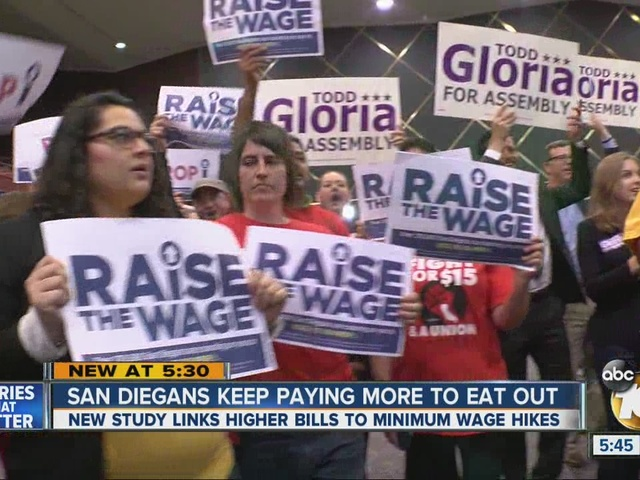 San Diegans keep paying more to dine out