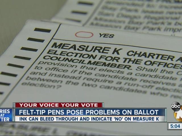 Felt-tip pens posing problems on ballots