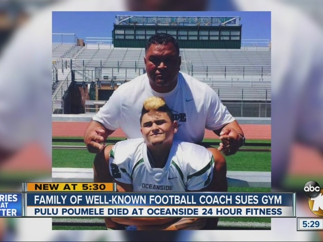 Family of Oceanside football coach, former Charger, sues 24 Hour Fitness
