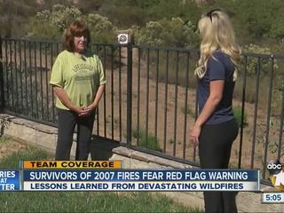 Survivor recalls devastation of 2007 wildfires