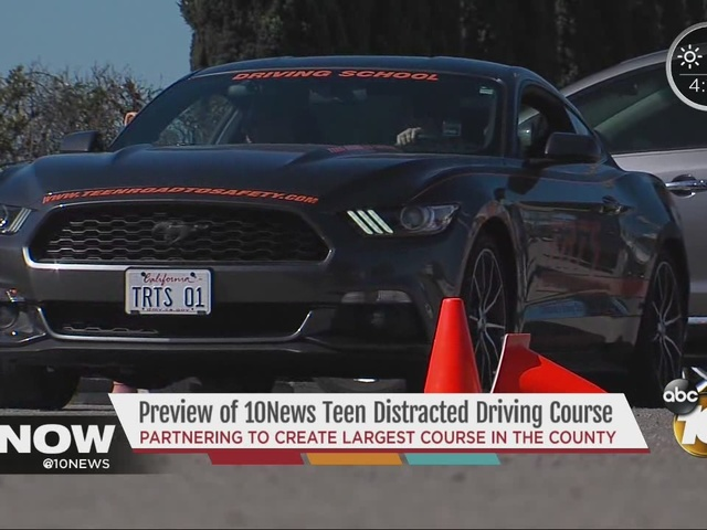 Previewing the 10News Teen Distracted Driving Course