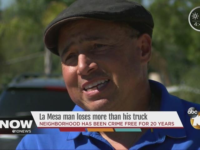 Stolen truck leaves La Mesa man out of business