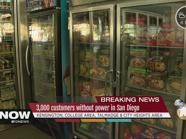 3,000 customers without power in San Diego