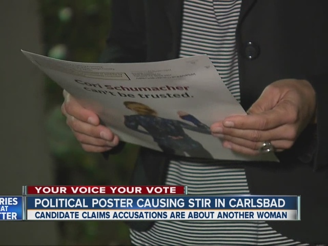 Political poster causing stir in Carlsbad