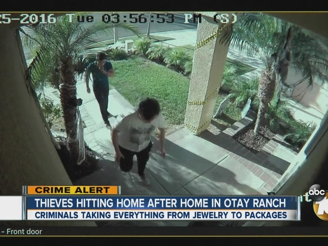 Thieves hitting home after home in Otay Ranch