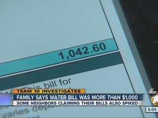 San Diego family receives $1,000 water bill