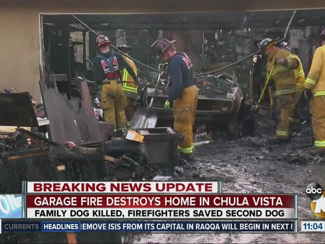 Garage fire destroys home in Chula Vista.