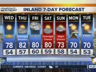 Forecast: From sunny Wednesday to showers Friday