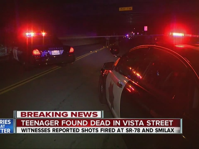 Teen found shot dead in pool of blood in Vista