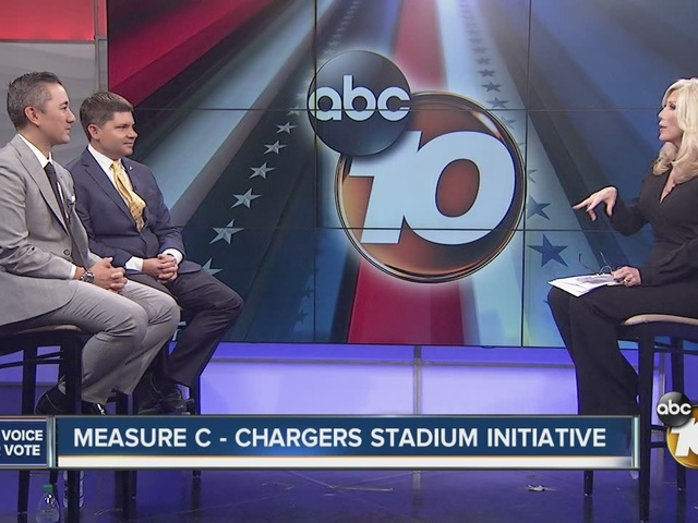 WATCH: Chargers stadium debate with councilman Chris Cate, stadium…