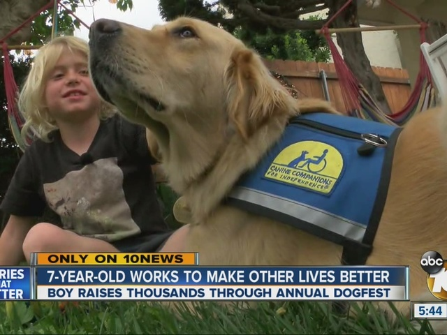 7-year-old works to make other lives better