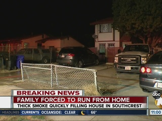Family forced to run from home