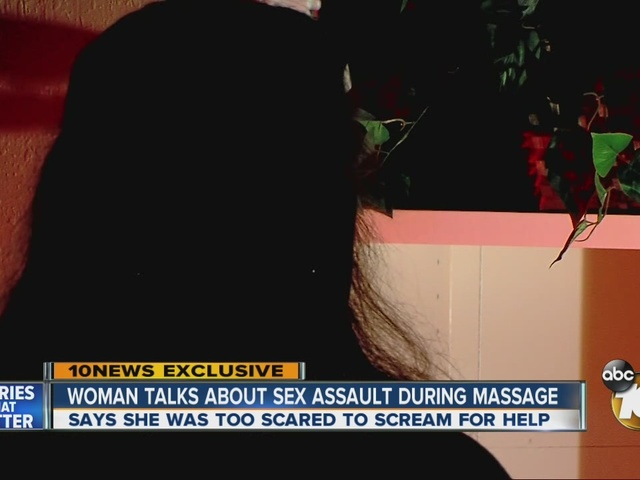 Woman talks about sex assault during massage