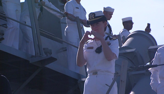 Homecoming for USS Spruance and USS Decatur