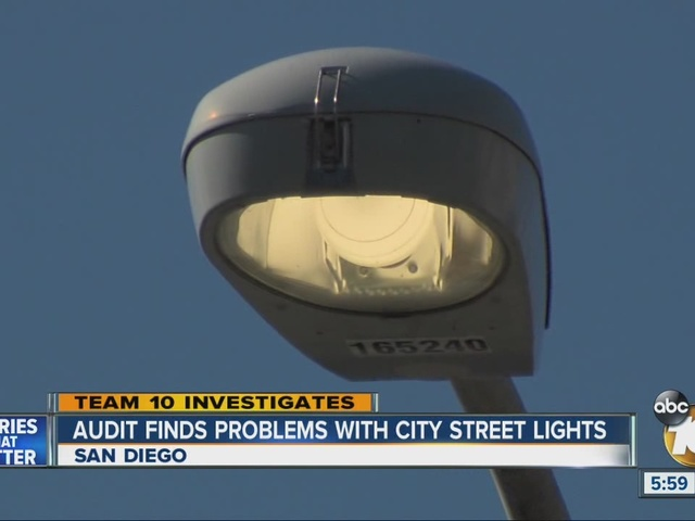 Audit finds problems with San Diego's street lights