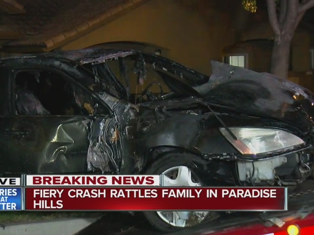 Fiery crash rattles family in Paradise Hills
