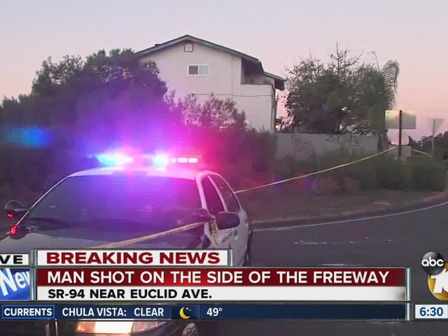 Shooting on side of SR-94 freeway