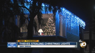Holiday lights ripped off San Diego Homes