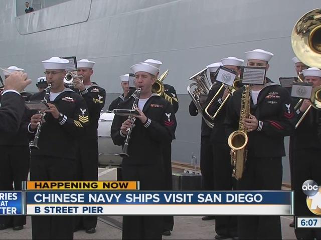 Chinese Navy ships visit San Diego
