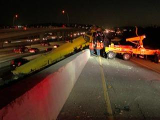 Crane overturns on EB SR-56 ramp to SB I-15