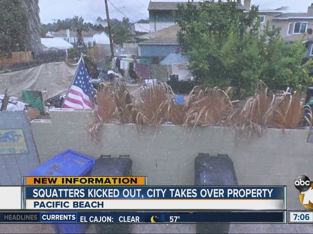 City kicks squatters out of Pacific Beach home