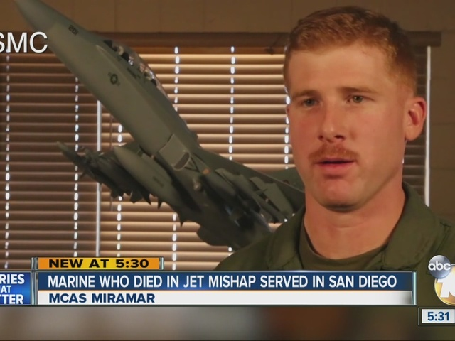 Marine pilot who died in jet mishap served in San Diego