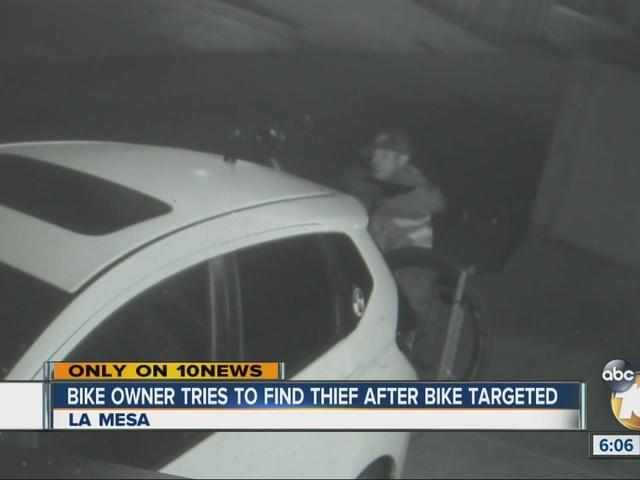 Man hides something under blanket, then targets expensive bike