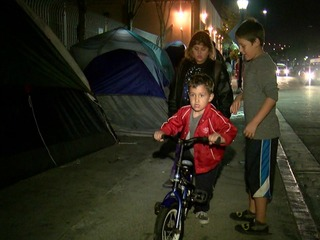 Local woman aims to help kids living in tents