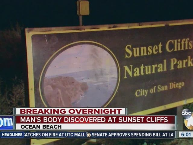 Man's body discovered at Sunset Cliffs