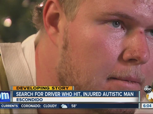 Search for driver who hit, injured autistic man