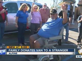 Gift from a stranger makes veteran's day