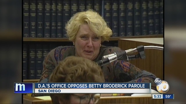 """Convicted killer """"Betty"""" Broderick up for parole - 10News ..."""