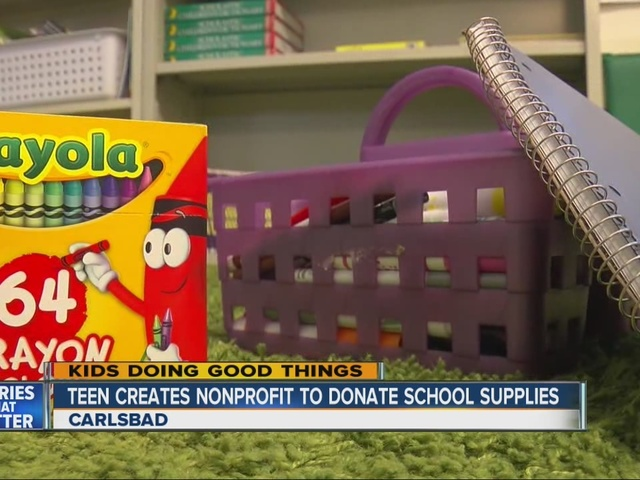 Teen creates non-profit to donate school supplies