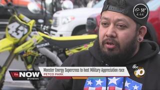 Supercross night honors military at Petco Park