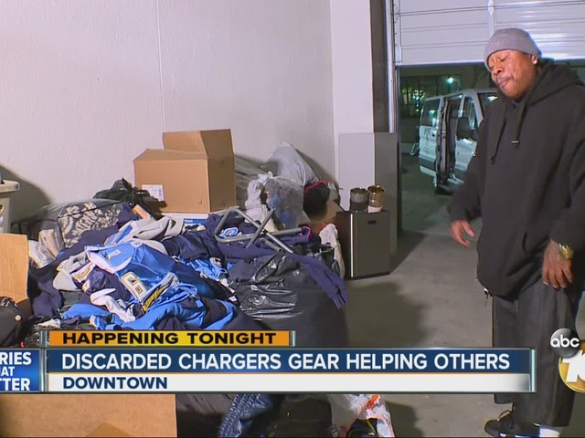 Discarded Chargers gear helping others