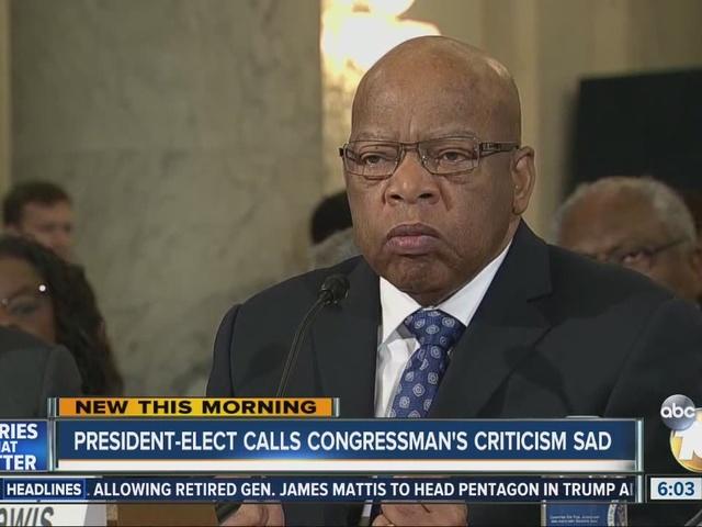 President-elect calls Congressman's criticism sad