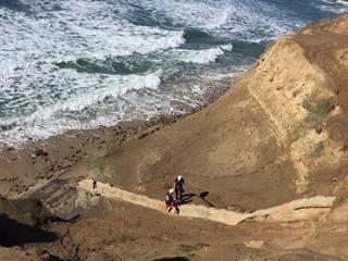 "Drunk man rescued from cliffs yells ""Go Trump"""