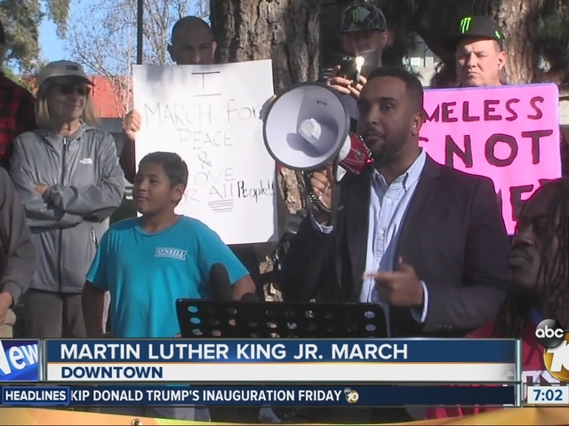 Martin Luther King Jr. March in downtown San Diego