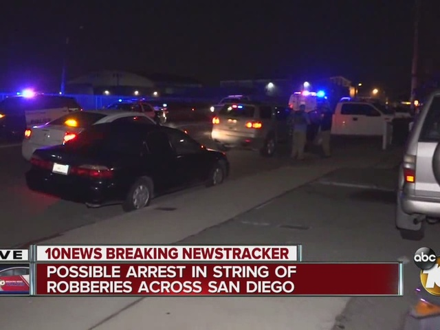 Possible arrest in string of San Diego robberies