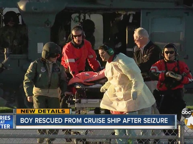 Boy rescued from cruise ship after seizure