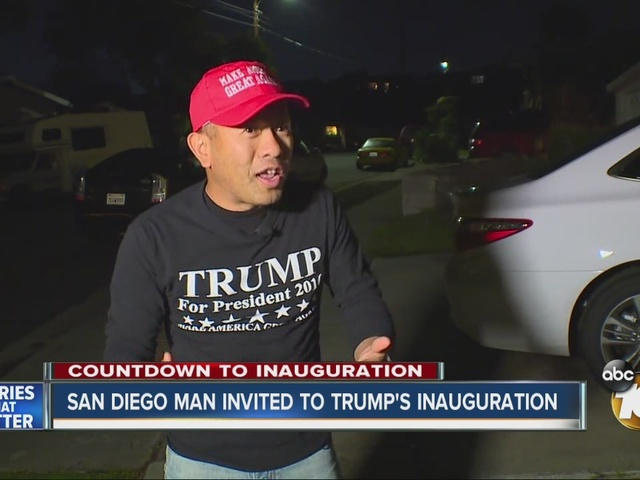 San Diego man invited to Presidential Inauguration