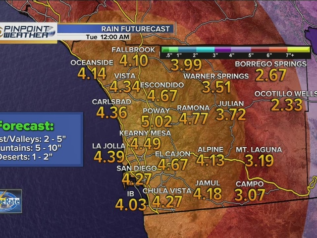 Series of storms to bring heavy rains to region