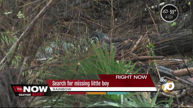 Boy missing- man-s body pulled from swollen Rainbow creek