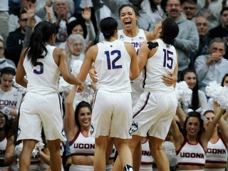 UConn women's hoops wins 100th straight game