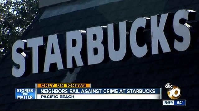 Neighbors Rail Against Crime At Pacific Beach Starbucks